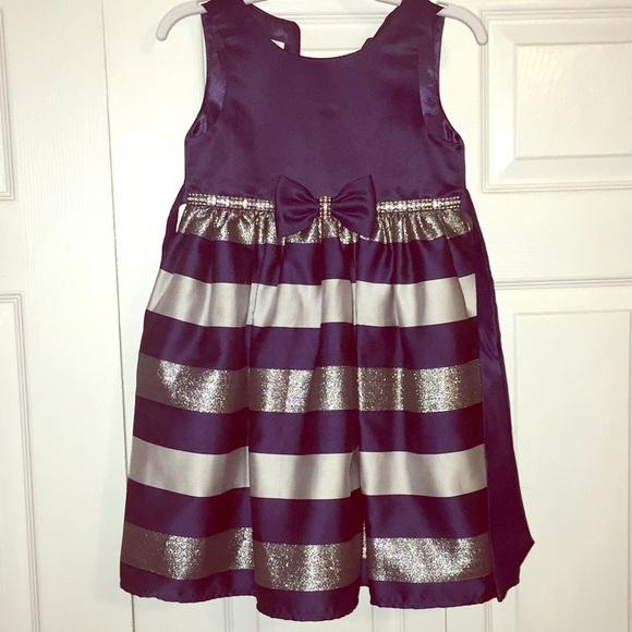American Princess Other - Girls navy striped dress